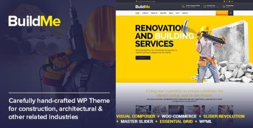 ThemeForest - BuildMe v4.5 - Construction & Architectural WP Theme - 11242771 - NULLED