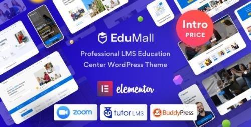 ThemeForest - EduMall v1.1.0 - Professional LMS Education Center WordPress Theme - 29240444