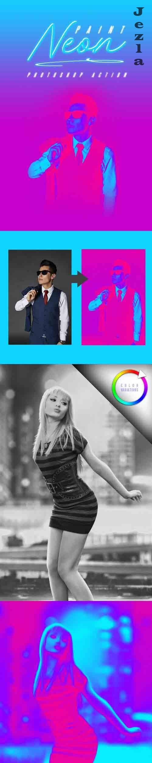GraphicRiver - Neon Paint Photoshop Effect 29001495
