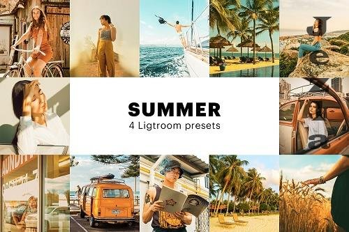 CreativeMarket - 4 Summer Lightroom Presets 5627714