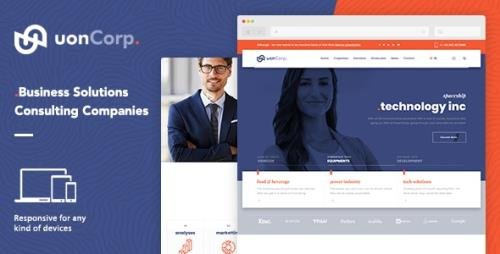 ThemeForest - Uon Corp v1.0 - Business Solutions Consulting Companies (Update: 18 December 18) - 22982211