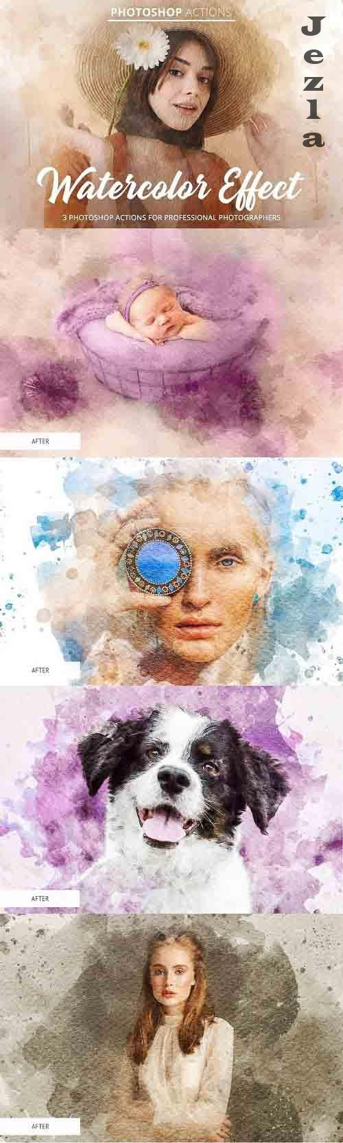 CreativeMarket - Watercolor Effect Actions for Ps 4848176
