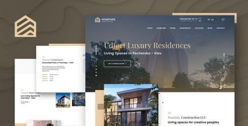 ThemeForest - Hompark v1.0 - Real Estate & Luxury Homes - 23955202