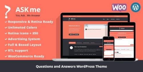 ThemeForest - Ask Me v6.2 - Responsive Questions & Answers WordPress - 7935874 - NULLED