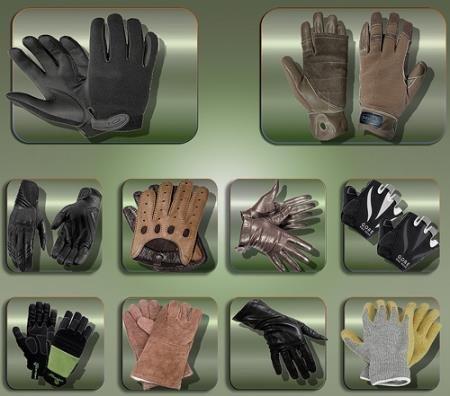 Клипарты на прозрачном фоне - Женские и мужские перчатки