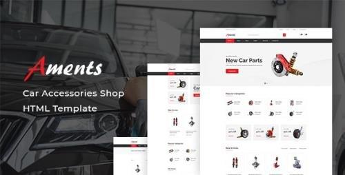 ThemeForest - Aments v1.0 - Car Accessories Shop HTML Template - 29620957