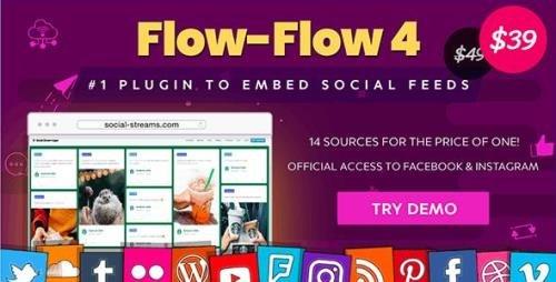 CodeCanyon - Flow-Flow v4.6.12 - Facebook Instagram Twitter Feed - WordPress Social Feed Grid Gallery Plugin - 9319434
