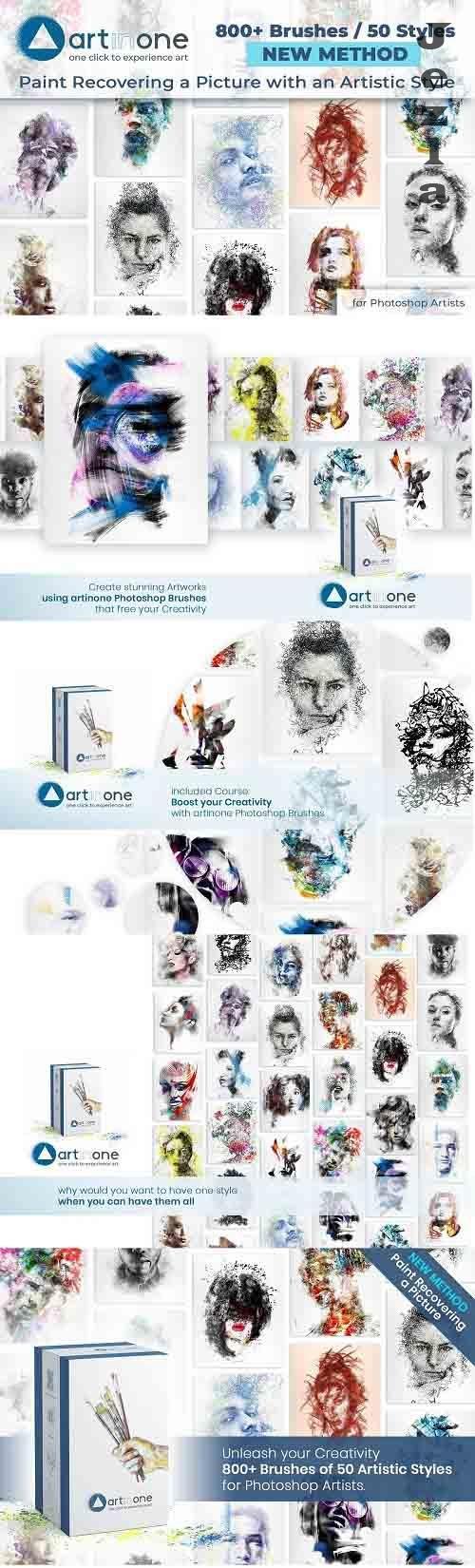 CreativeMarket - Artinone Photoshop Brushes 5435805