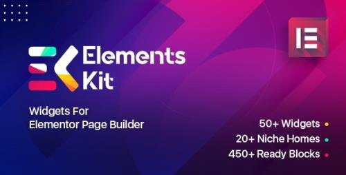 CodeCanyon - Elements Kit Widgets v2.0.6 - Addon for elementor page builder - 25104315 -
