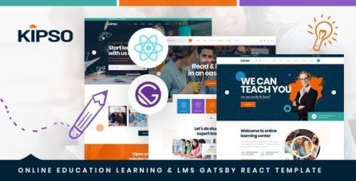 ThemeForest - Kipso v1.0 - Gatsby React Online Education Learning LMS Template - 29572433