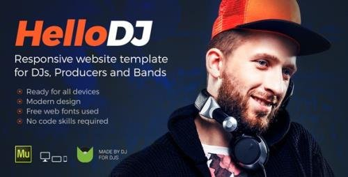 ThemeForest - HelloDJ v1.0 - DJ / Producer / Music Band Responsive Muse Template - 20044495