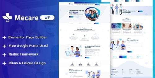 ThemeForest - Mecare v1.0 - Hospital and Health WordPress Theme - 28196250