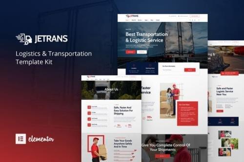 ThemeForest - Jetrans v1.0.0 - Logistics & Transportation Elementor Template Kit - 29677272