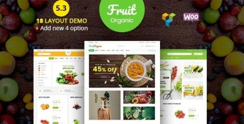 ThemeForest - Food Fruit v5.3.0 - Organic Farm, Natural RTL Responsive WooCommerce WordPress Theme - 19858481