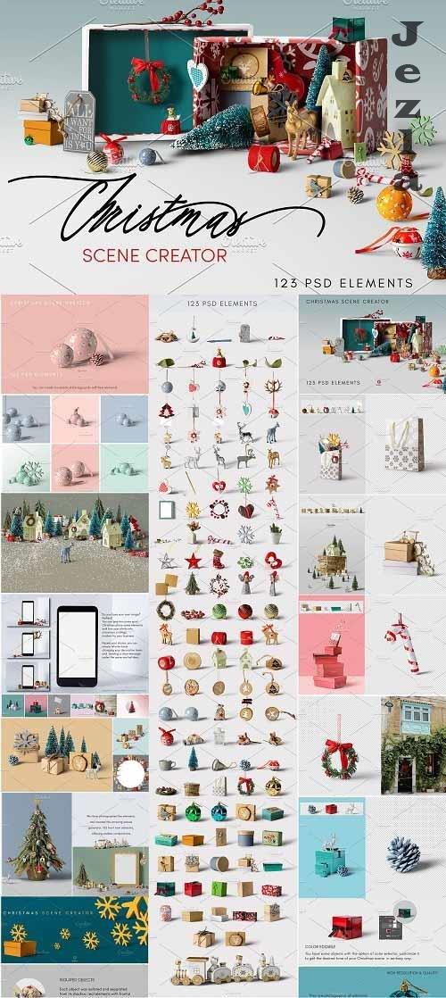 CreativeMarket - Christmas Scene Creator 5553595
