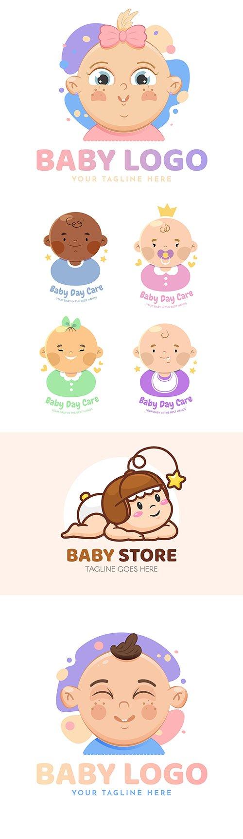 Baby logos brand name company design
