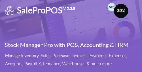 CodeCanyon - SalePro v3.3.8 - Inventory Management System with POS, HRM, Accounting - 22256829 - NULLED