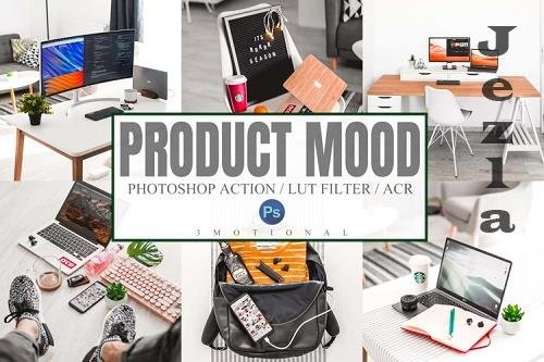 10 Product Mood Photoshop Actions ACR, LUT Presets - 1100258