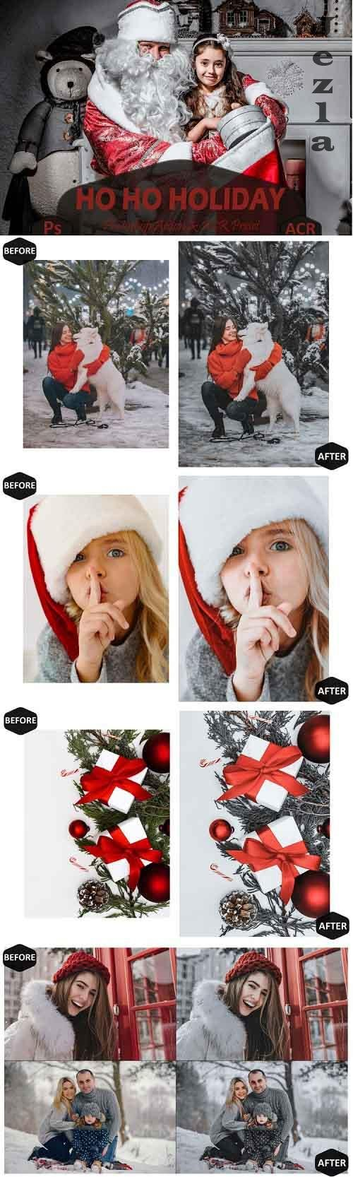 10 Ho Ho Holiday Photoshop Actions And ACR Presets, Ps Xmas - 972216