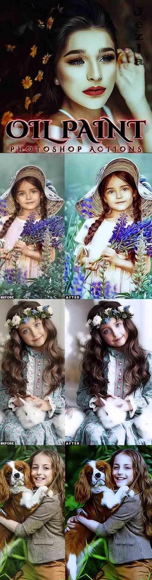 GraphicRiver - Oil Painting Photoshop Actions 29576279
