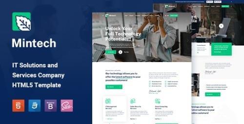 ThemeForest - Mintech v1.0 - IT Solutions & Services HTML5 Template (Update: 7 November 20) - 29031466