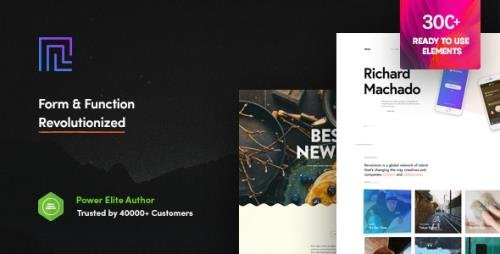 ThemeForest - Revolution v2.3.5 - Creative Multipurpose WordPress Theme - 21758544 - NULLED