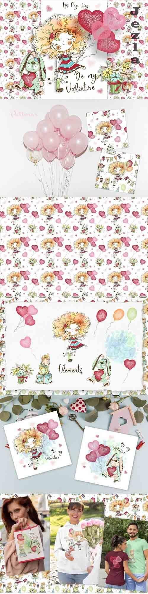 Funny Valentine Cards, Digital Clipart Valentines, Birthday - 1100597