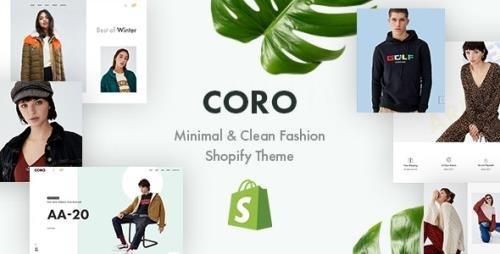 ThemeForest - CORO v1.0 - Minimal & Clean Fashion Shopify Theme - 23205783