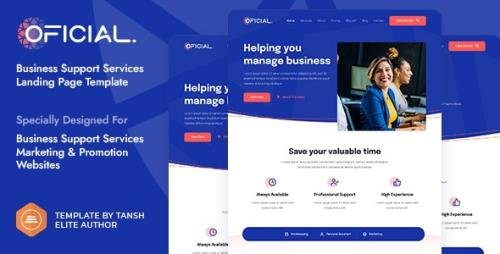 ThemeForest - Oficial v1.0.0 - Business Support Services HTML Landing Page Template - 29682546