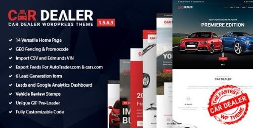 ThemeForest - Car Dealer v1.5.6.3 - Automotive Responsive WordPress Theme - 20213334 - NULLED
