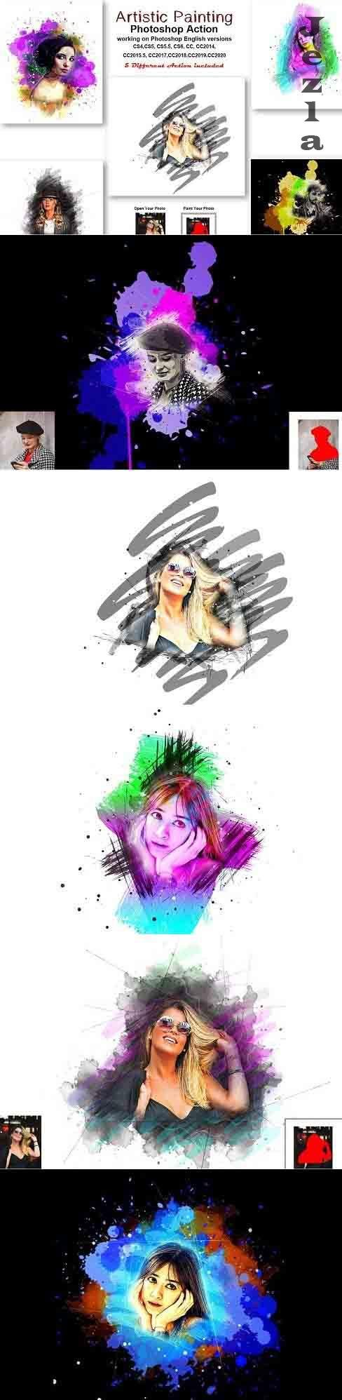 CreativeMarket - Artistic Painting Photoshop Action 5429287
