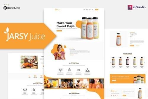 ThemeForest - Jarsy Juice v1.0.01 - Drink Brand Elementor Template Kit - 29664893
