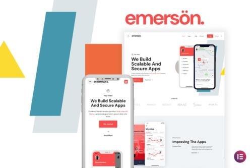 ThemeForest - Emerson v1.0.0 - App & Software Showcase Elementor Template Kit - 29740775