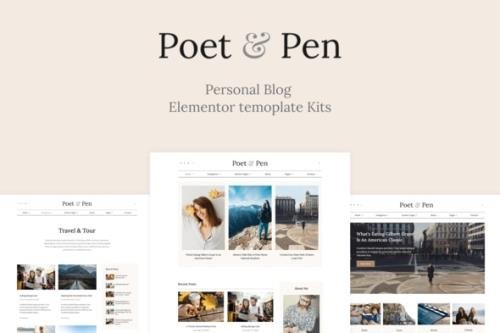 ThemeForest - Poet & Pen v1.0.0 - Personal Blog Elementor Template Kit - 29719320