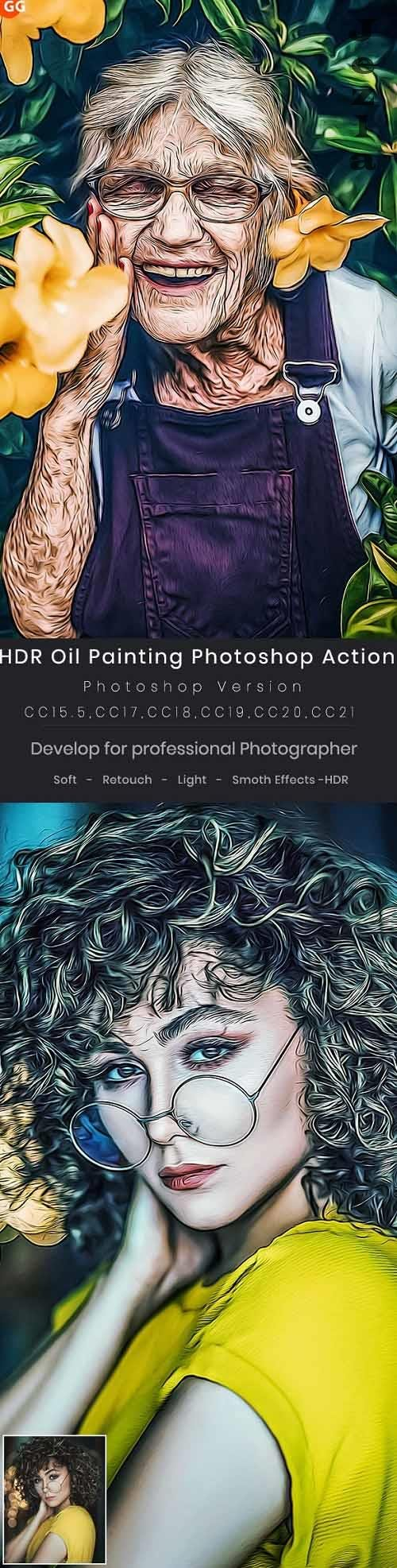 GraphicRiver - HDR Oil Painting Photoshop Action 29314627
