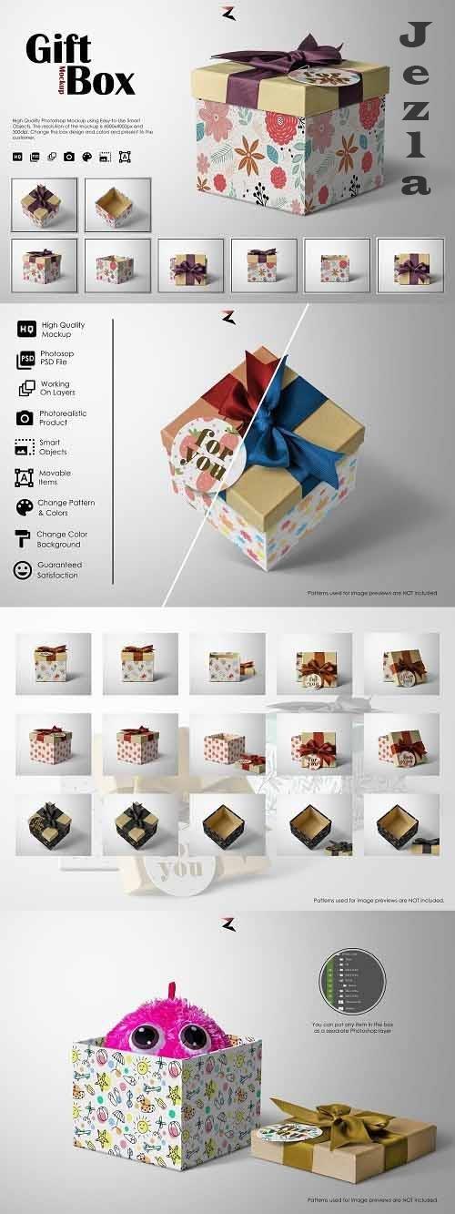 CreativeMarket - Gift Box Mockup 6K 5570092