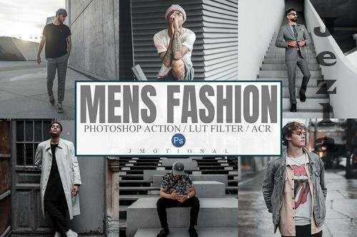 7 Men's Fashion Photoshop Actions, ACR, LUT Presets - 1112007