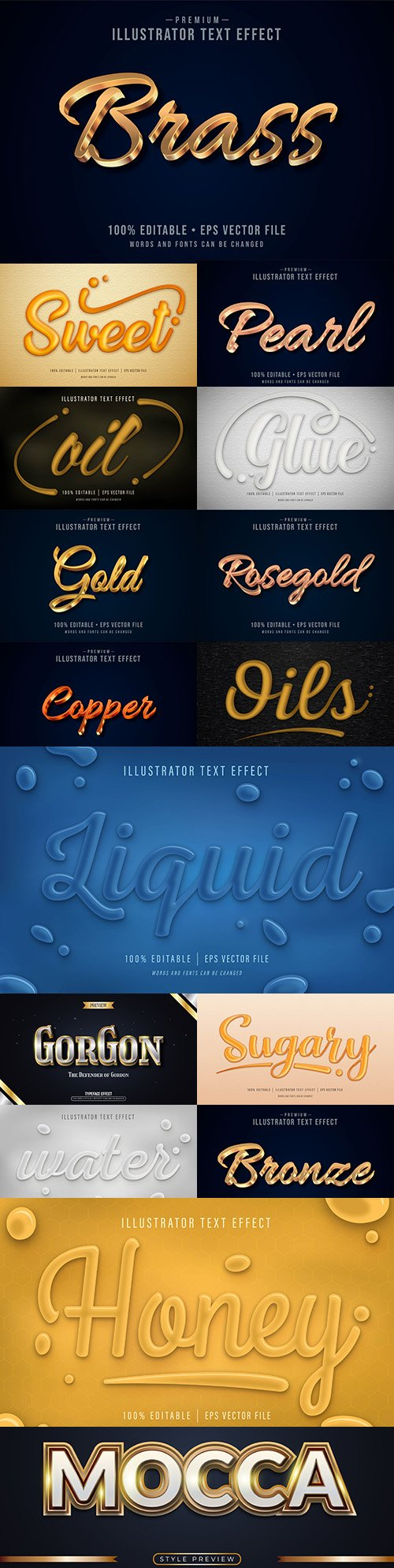 Editable font effect text collection illustration design 228