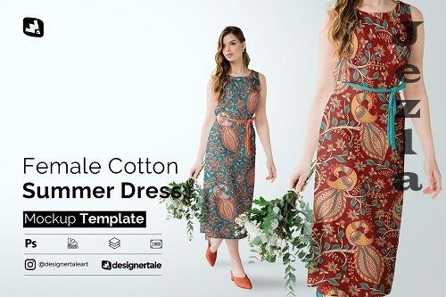 CreativeMarket - Female Cotton Summer Dress Mockup 5097495