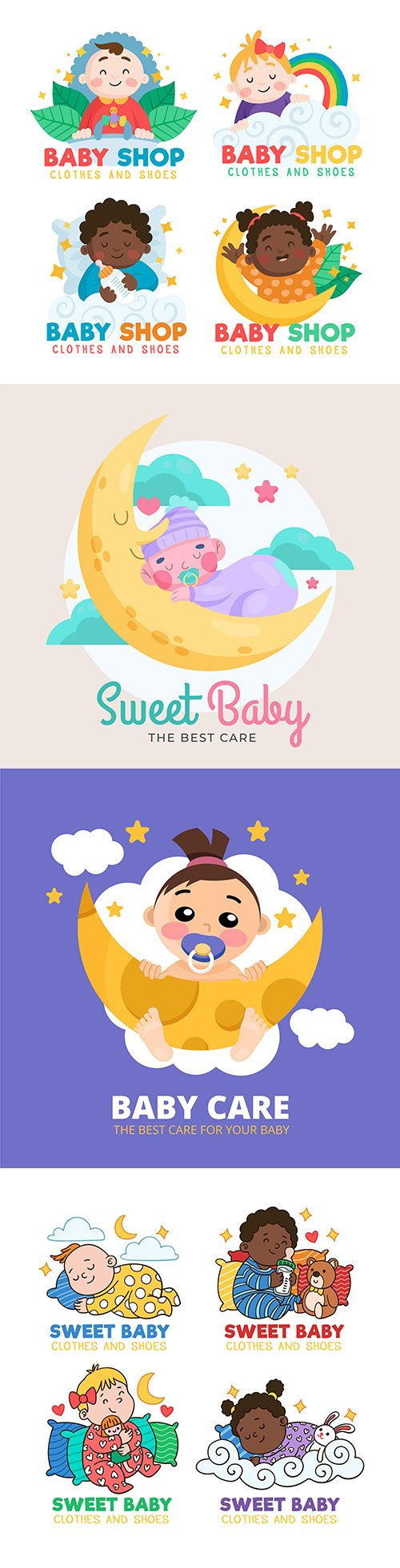 Baby logos brand name company design 2
