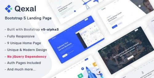 ThemeForest - Qexal v1.1 - Bootstrap 5 Landing Page Template - 28886371