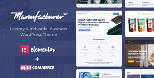 ThemeForest - Manufacturer v1.3.2 - Factory and Industrial WordPress Theme - 22672753 - NULLED