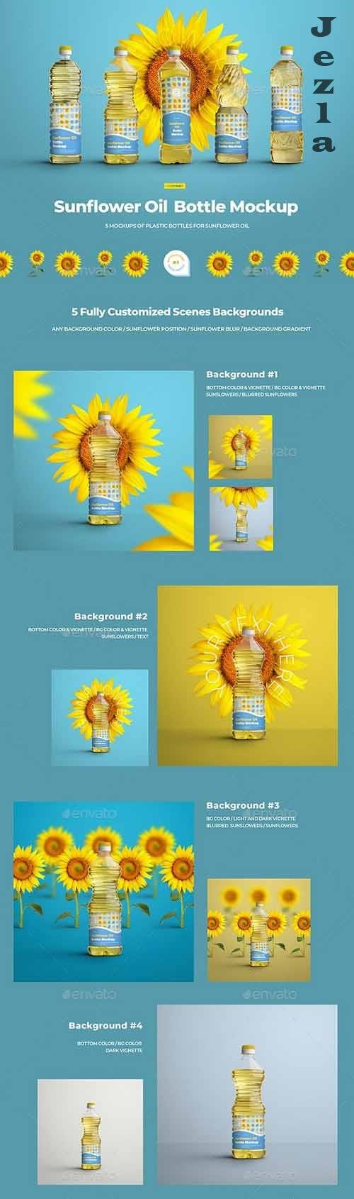 GraphicRiver - Mockups Plastic Sunflower Oil Bottles 29741146