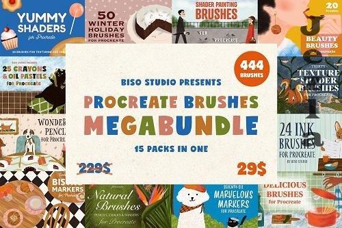 CreativeMarket - Procreate Brushes Megabundle 5177864