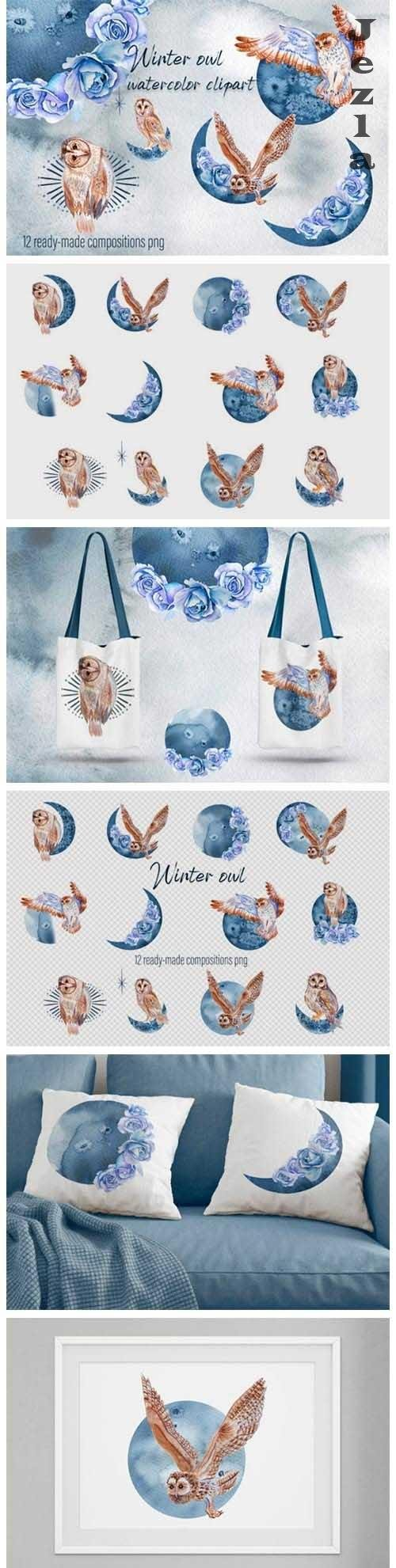Watercolor moon clipart Magic mysterious space - 1076850