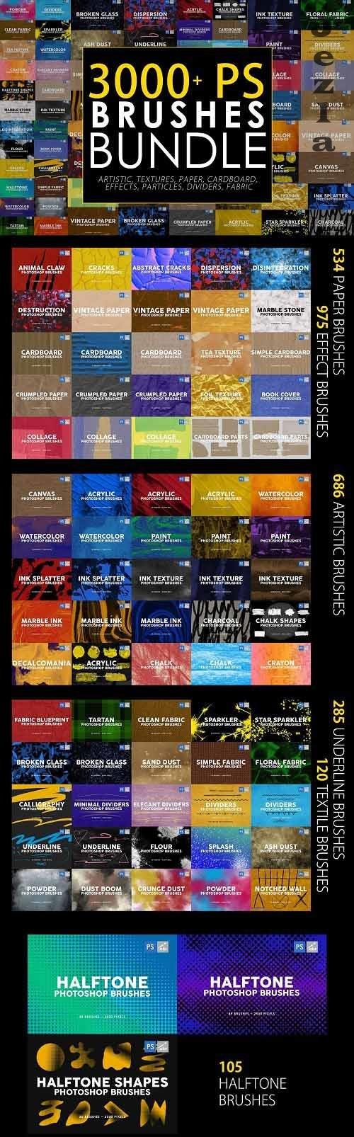 3000 Photoshop Stamp Brushes Bundle - 5657270 - (Part 1)