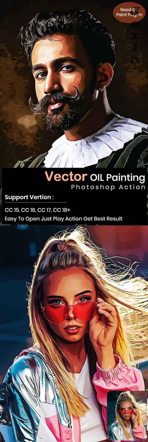 GraphicRiver - Vector oil Painting Ps Action 29500480