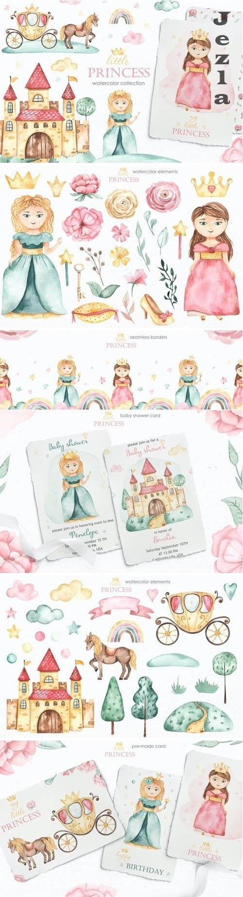 Little princess watercolor - 5660302