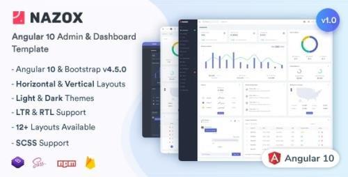 ThemeForest - Nazox v1.0.0 - Angular 10 Admin & Dashboard Template - 28441799