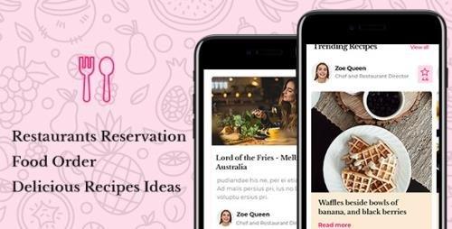 ThemeForest - Vanille v1.0 - Restaurant Reservations Food Delivery Mobile Template - 22674465